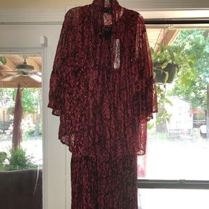 Red Lace 2 piece Lola Dress